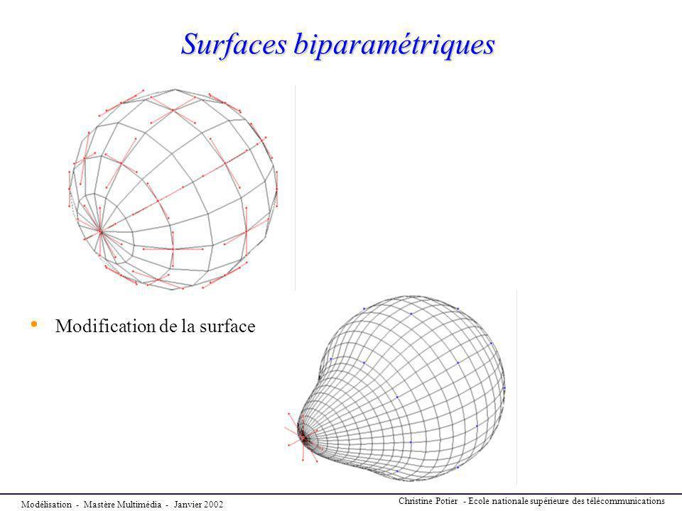 Surfaces biparamétriques