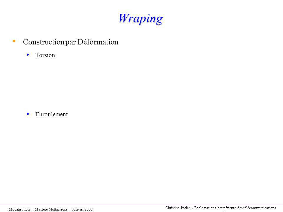 Wraping Construction par Déformation Torsion Enroulement