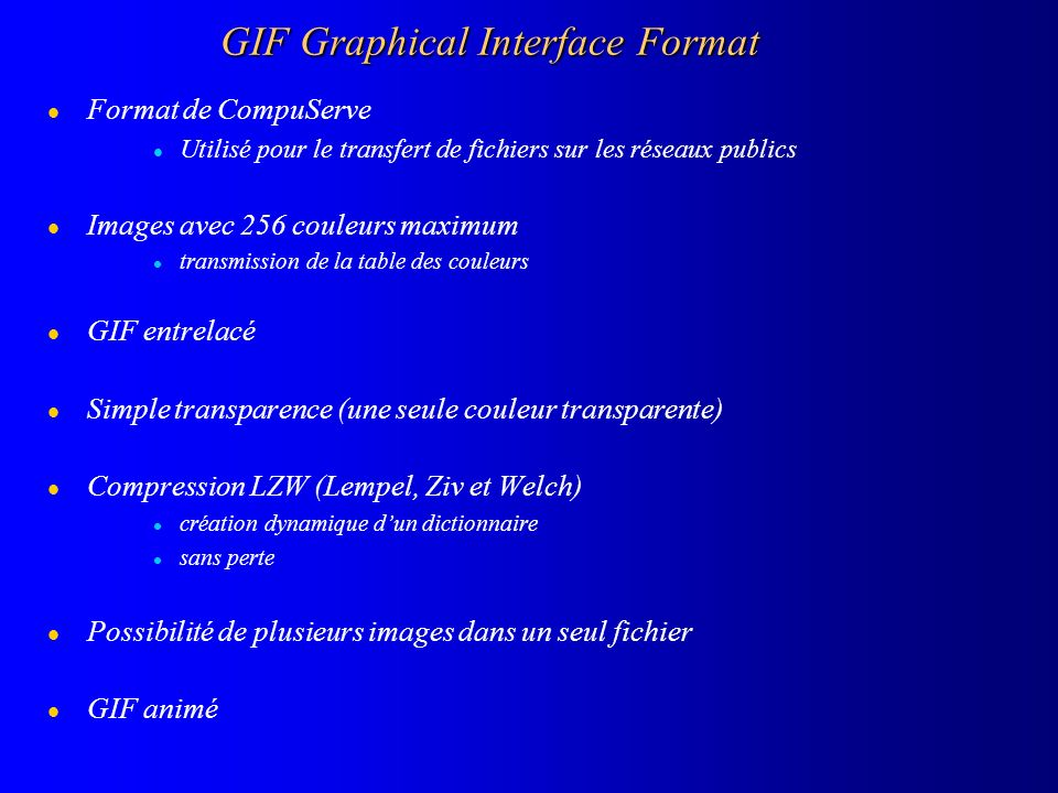 GIF Graphical Interface Format