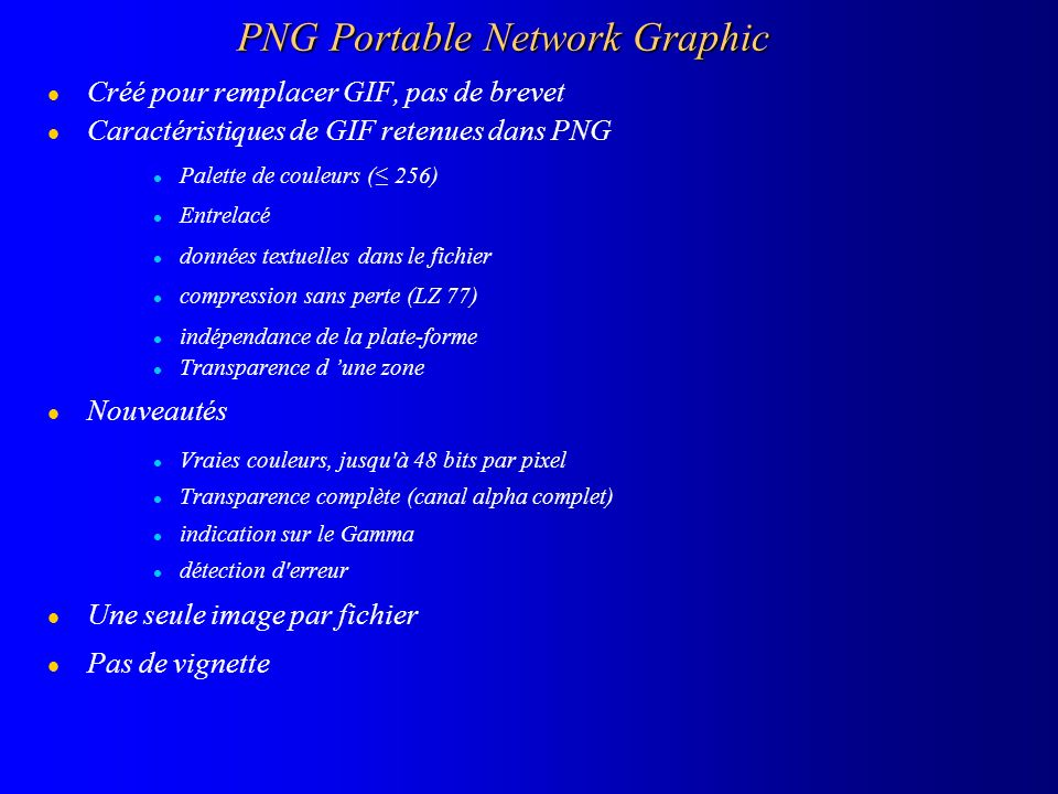 PNG Portable Network Graphic