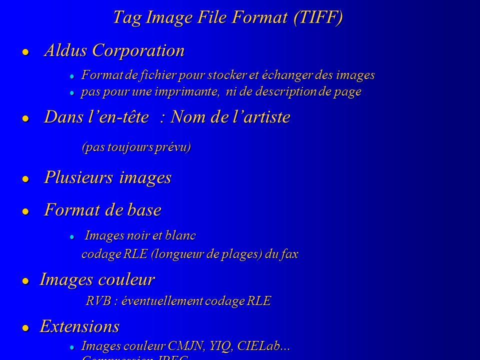 Tag Image File Format (TIFF)