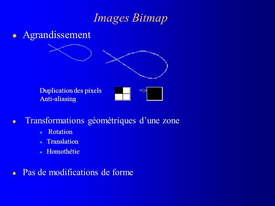 Images Bitmap Agrandissement Transformations géométriques d'une zone
