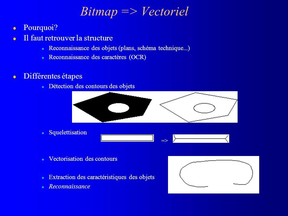 Bitmap => Vectoriel