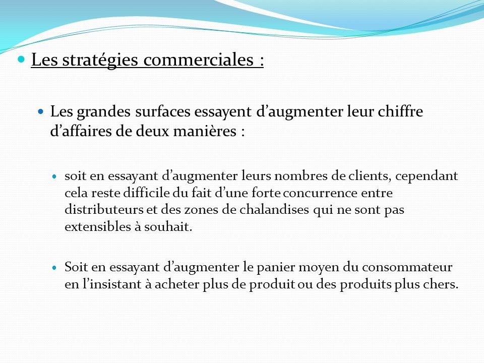 Les stratégies commerciales :