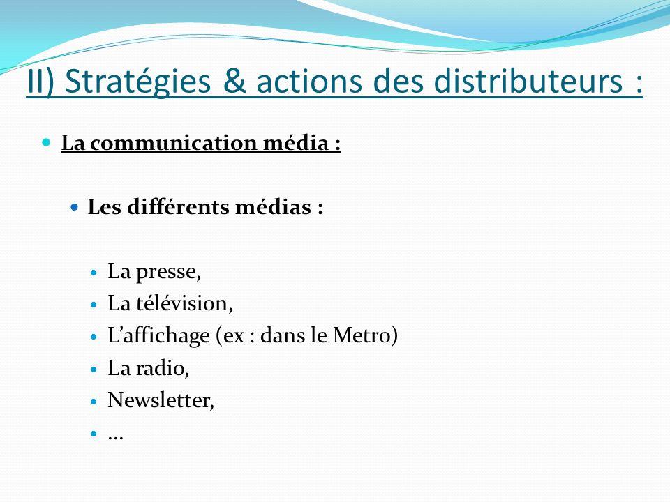 II) Stratégies & actions des distributeurs :