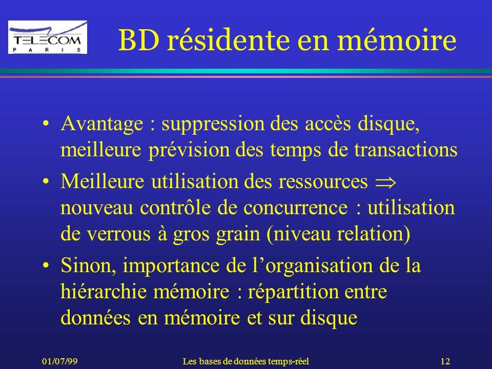 BD résidente en mémoire