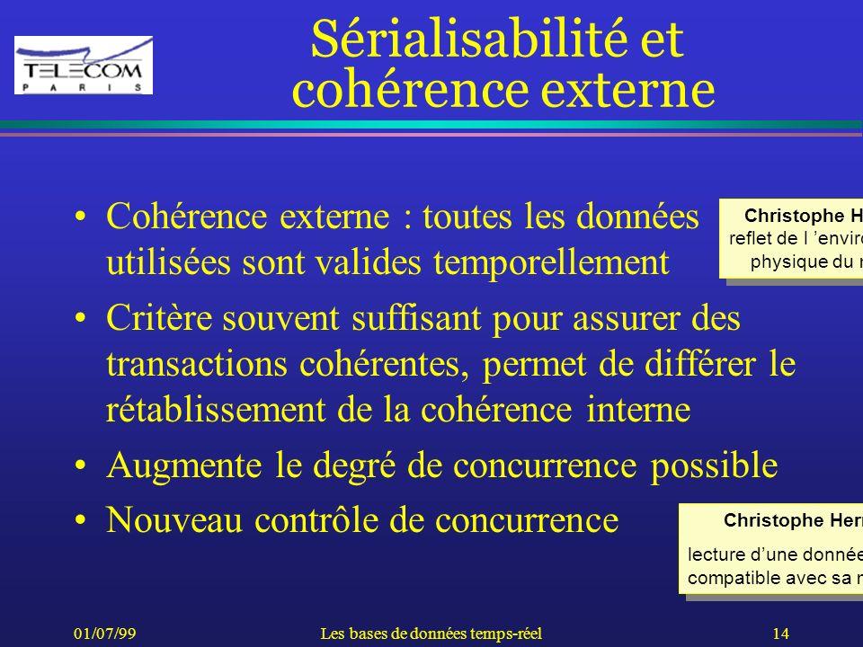 Sérialisabilité et cohérence externe