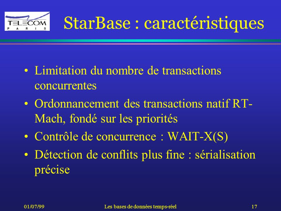 StarBase : caractéristiques