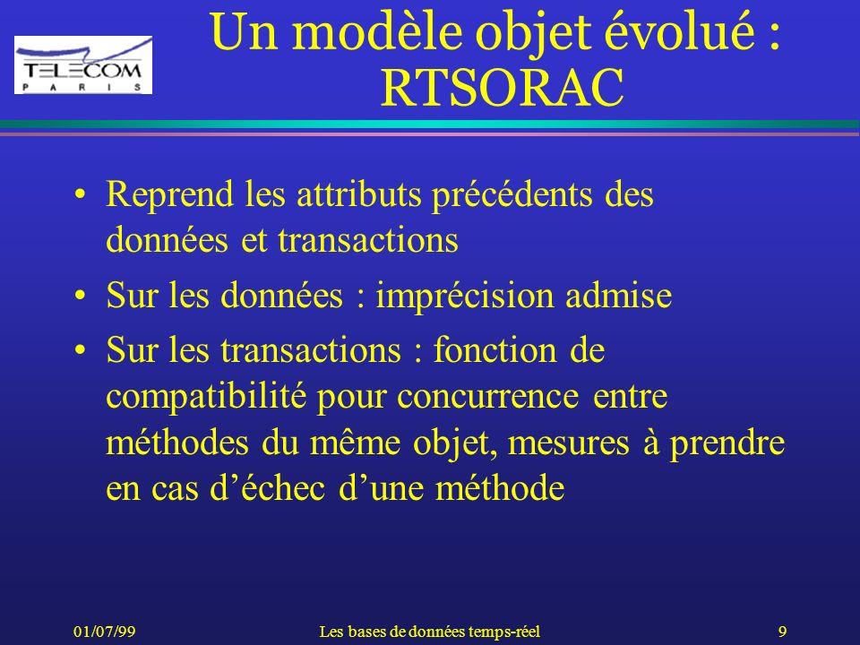 Un modèle objet évolué : RTSORAC