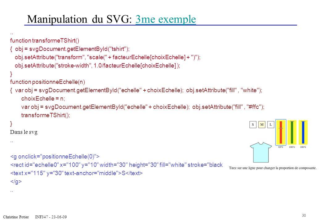 Manipulation du SVG: 3me exemple