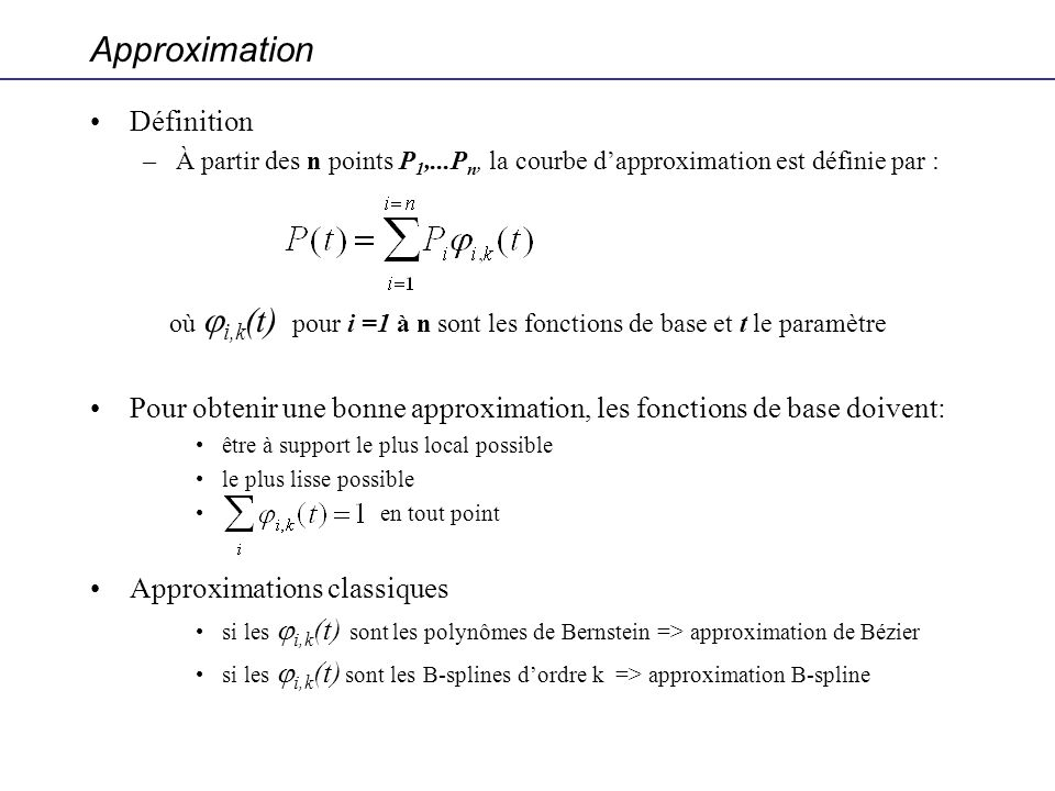 Approximation Définition