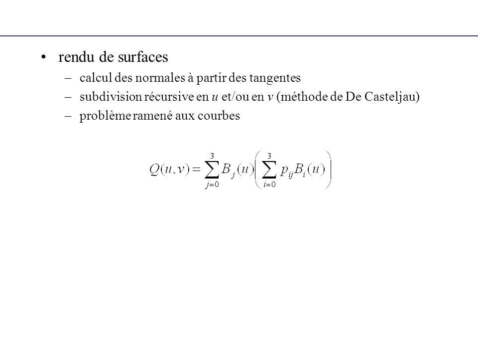 rendu de surfaces calcul des normales à partir des tangentes