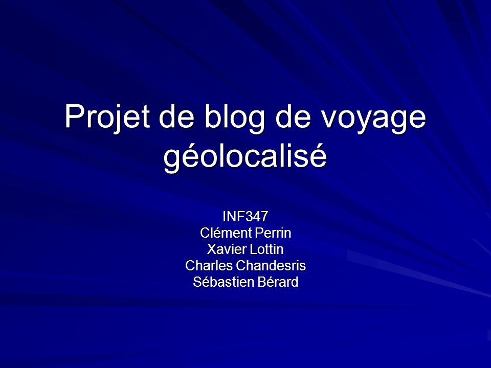 Projet de blog de voyage géolocalisé