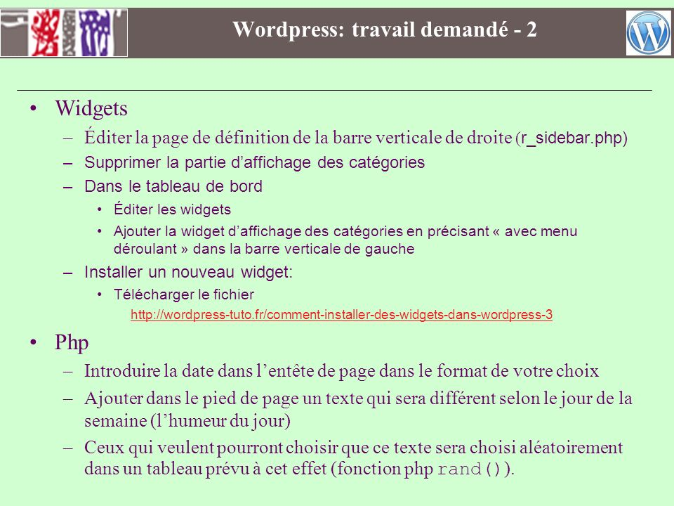 utiliser un cms  wordpress