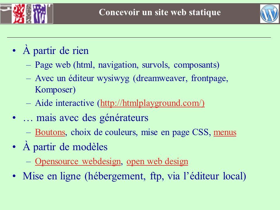 Concevoir un site web statique