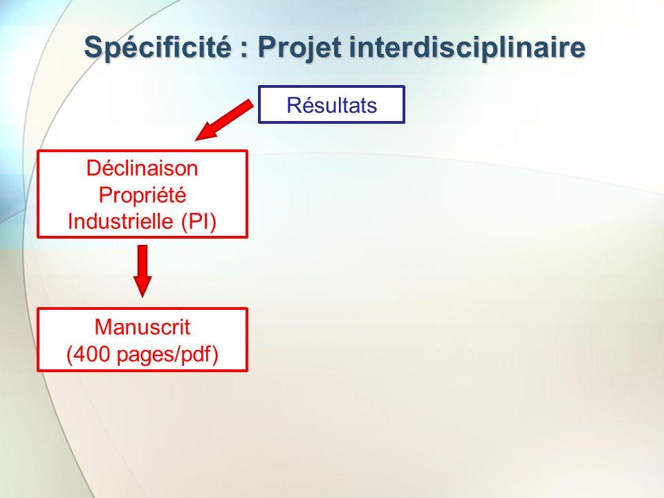 Spécificité : Projet interdisciplinaire