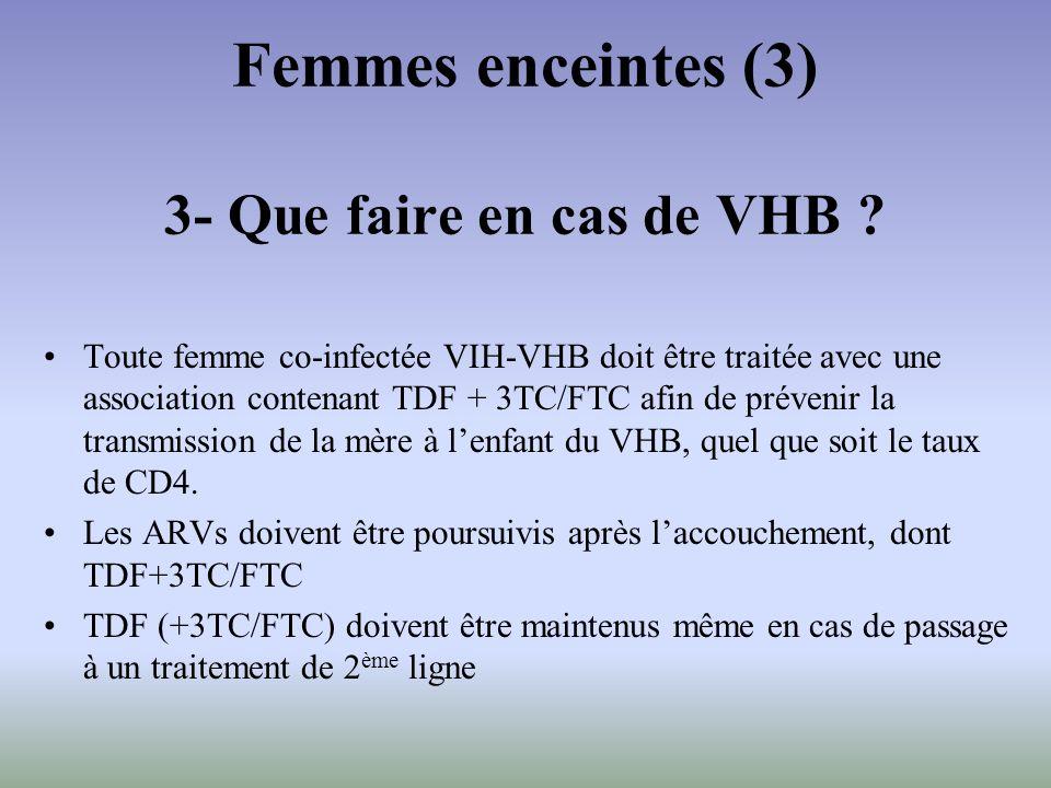 Femmes enceintes (3) 3- Que faire en cas de VHB