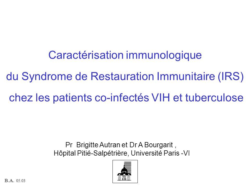 Caractérisation immunologique