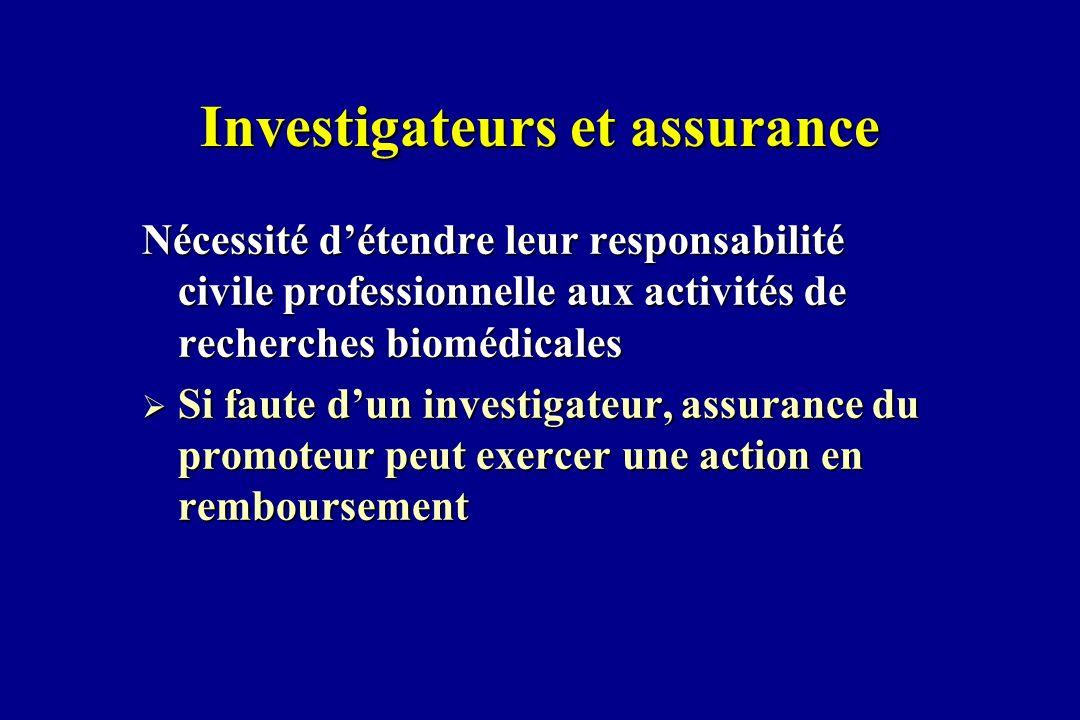 Investigateurs et assurance