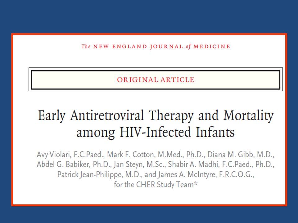 L'étude CHER sur les ARV précoce et mortalité chez les enfants infectés par le VIH