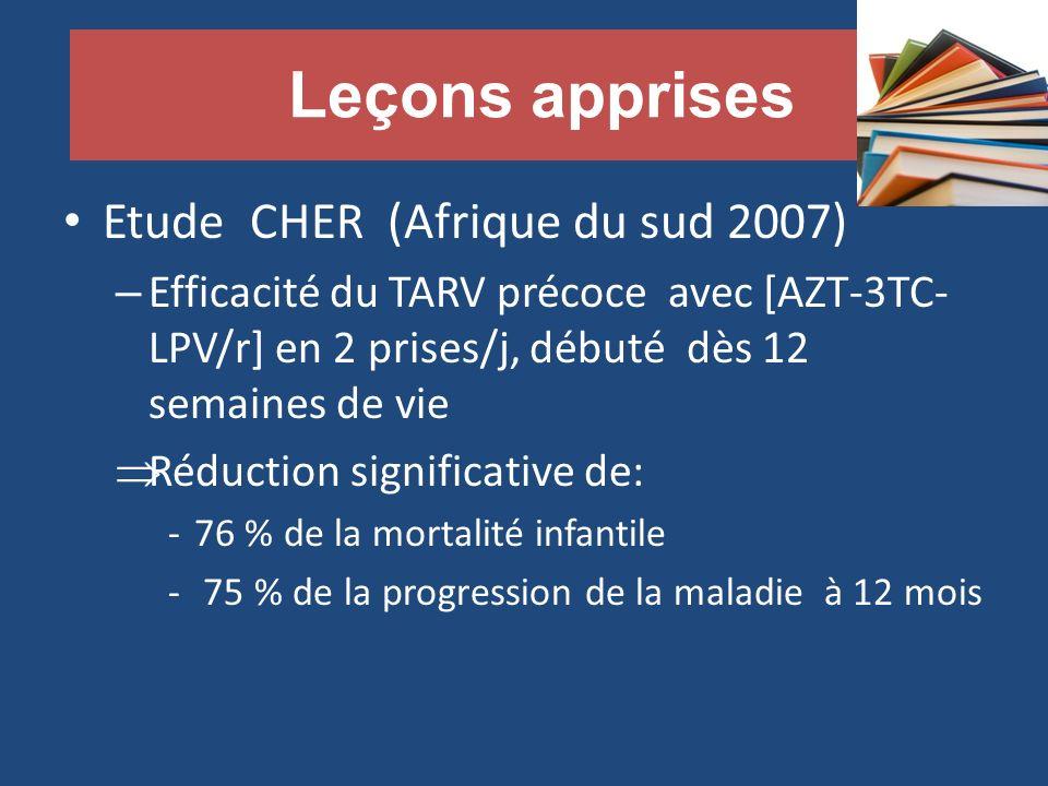 Leçons apprises Etude CHER (Afrique du sud 2007)