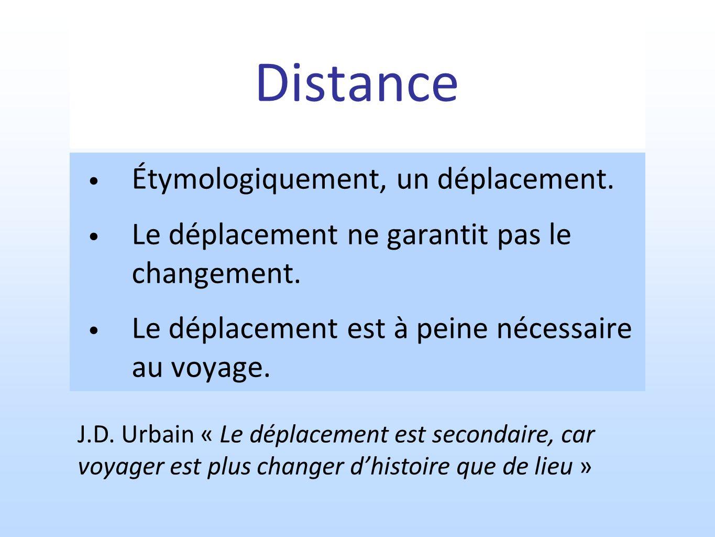 Distance Étymologiquement, un déplacement.