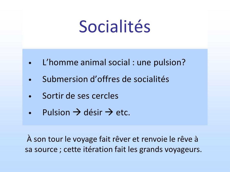 Socialités L'homme animal social : une pulsion