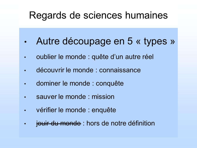 Regards de sciences humaines