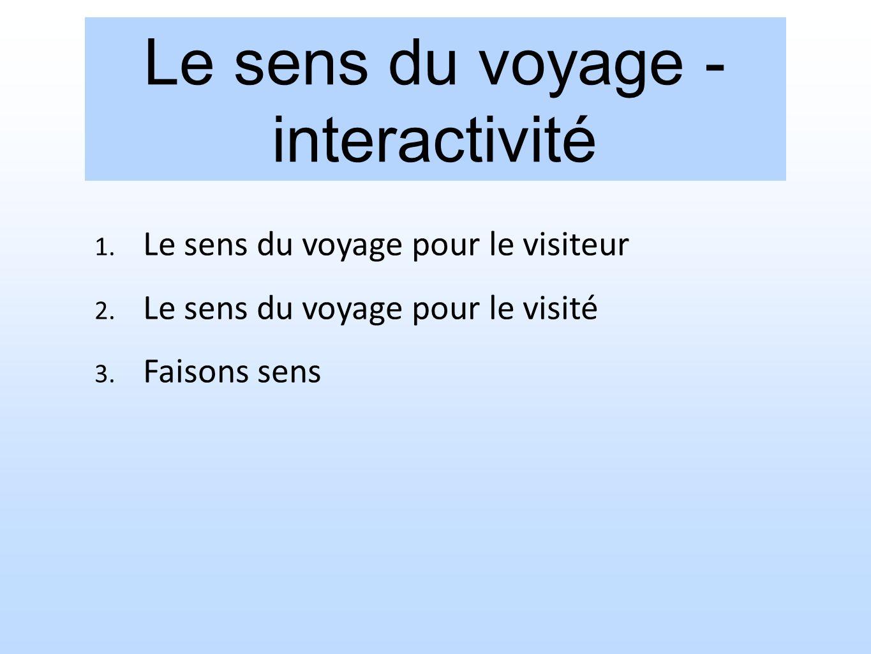 Le sens du voyage - interactivité