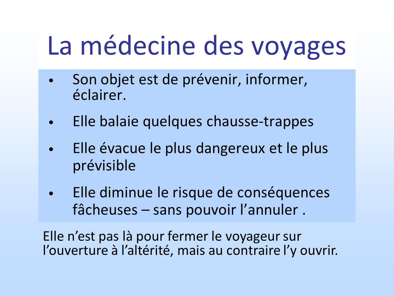 La médecine des voyages