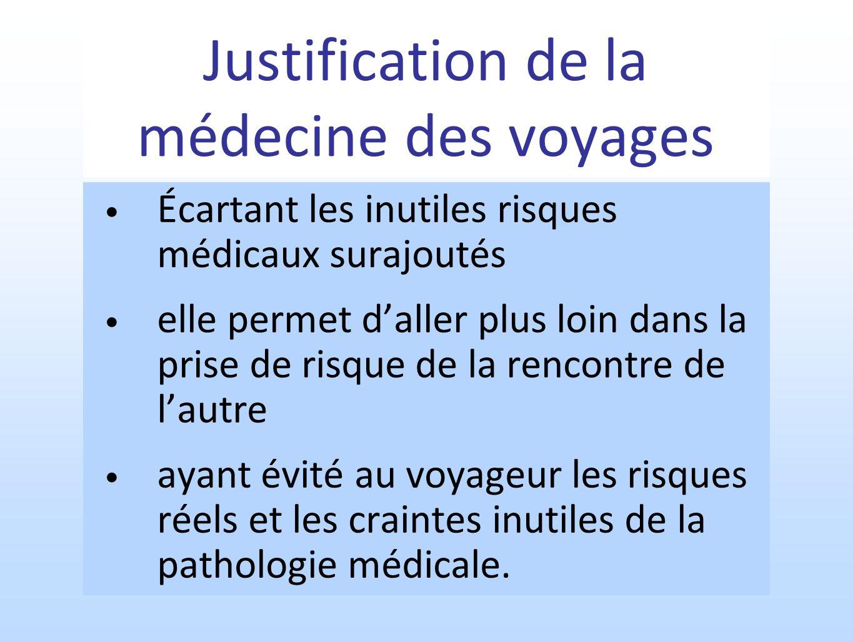 Justification de la médecine des voyages