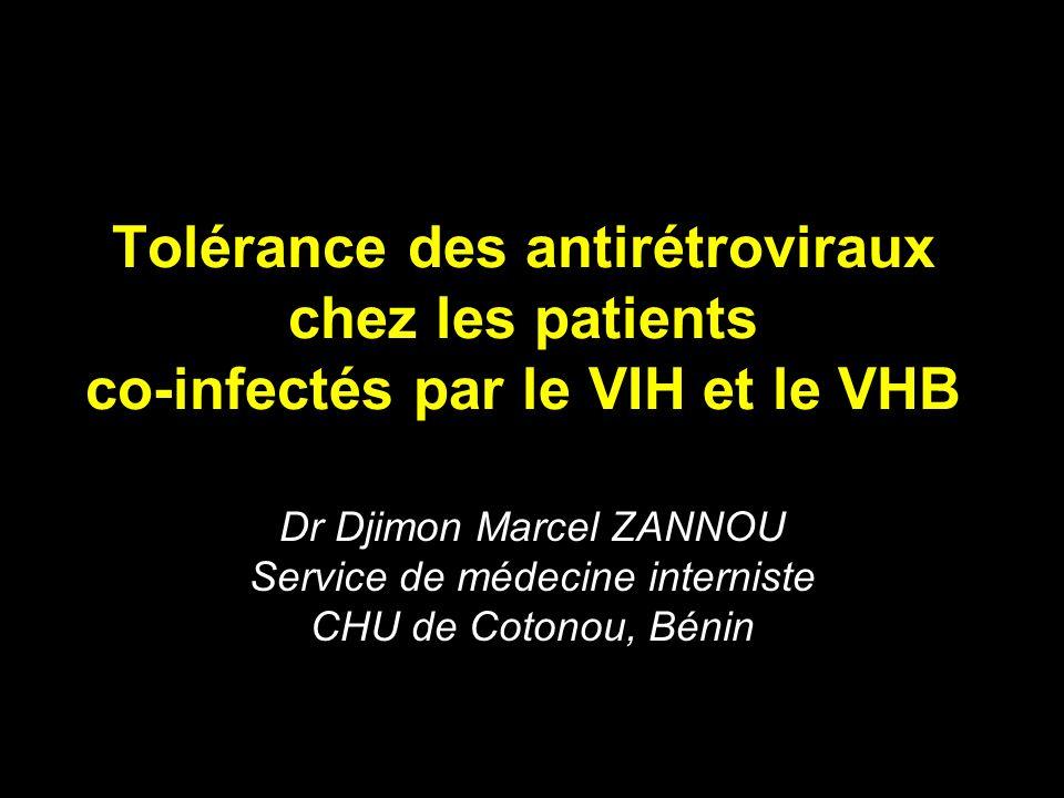 Tolérance des antirétroviraux chez les patients co-infectés par le VIH et le VHB
