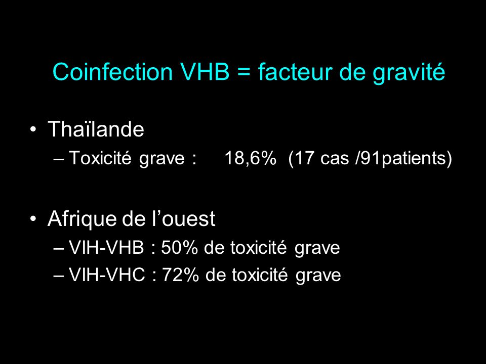 Coinfection VHB = facteur de gravité