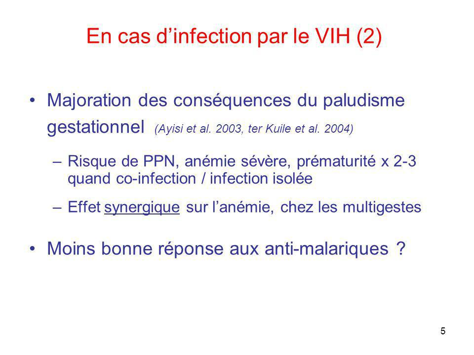 En cas d'infection par le VIH (2)