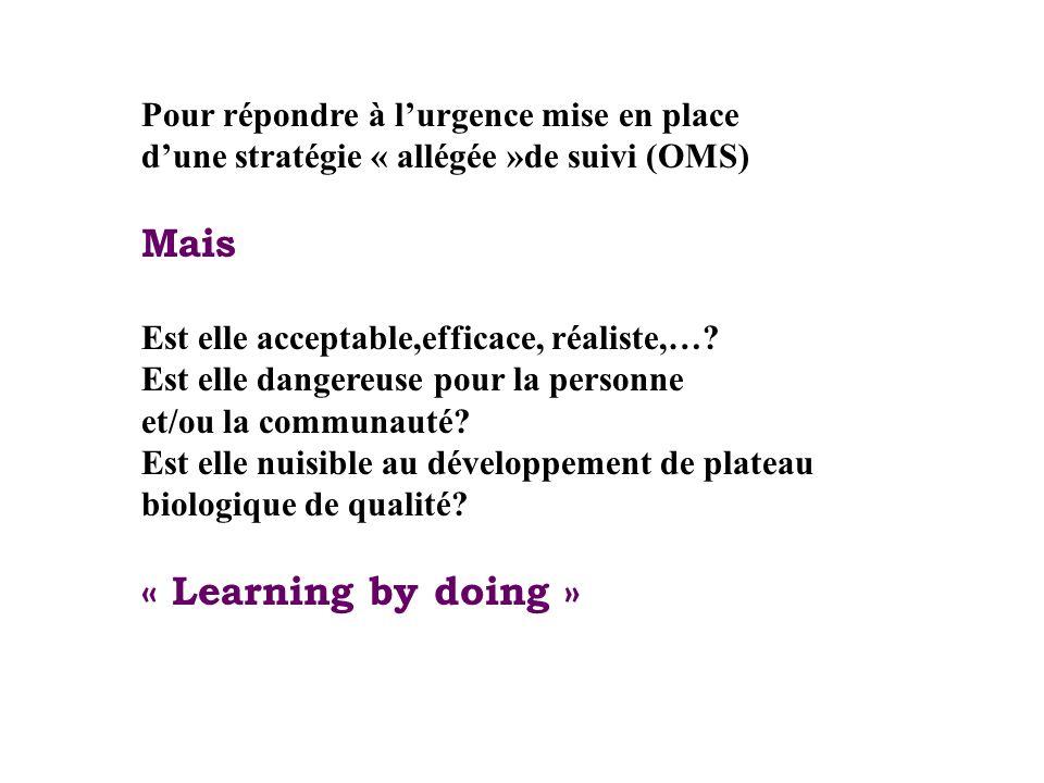 Mais « Learning by doing » Pour répondre à l'urgence mise en place