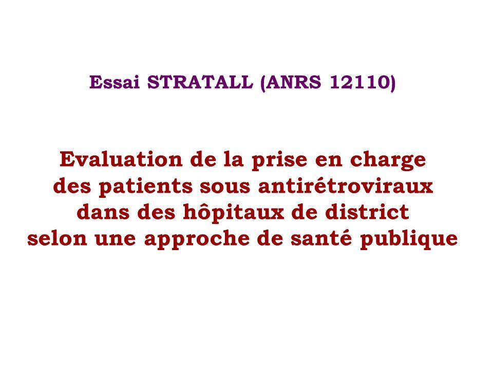 Essai STRATALL (ANRS 12110) Evaluation de la prise en charge des patients sous antirétroviraux dans des hôpitaux de district selon une approche de santé publique