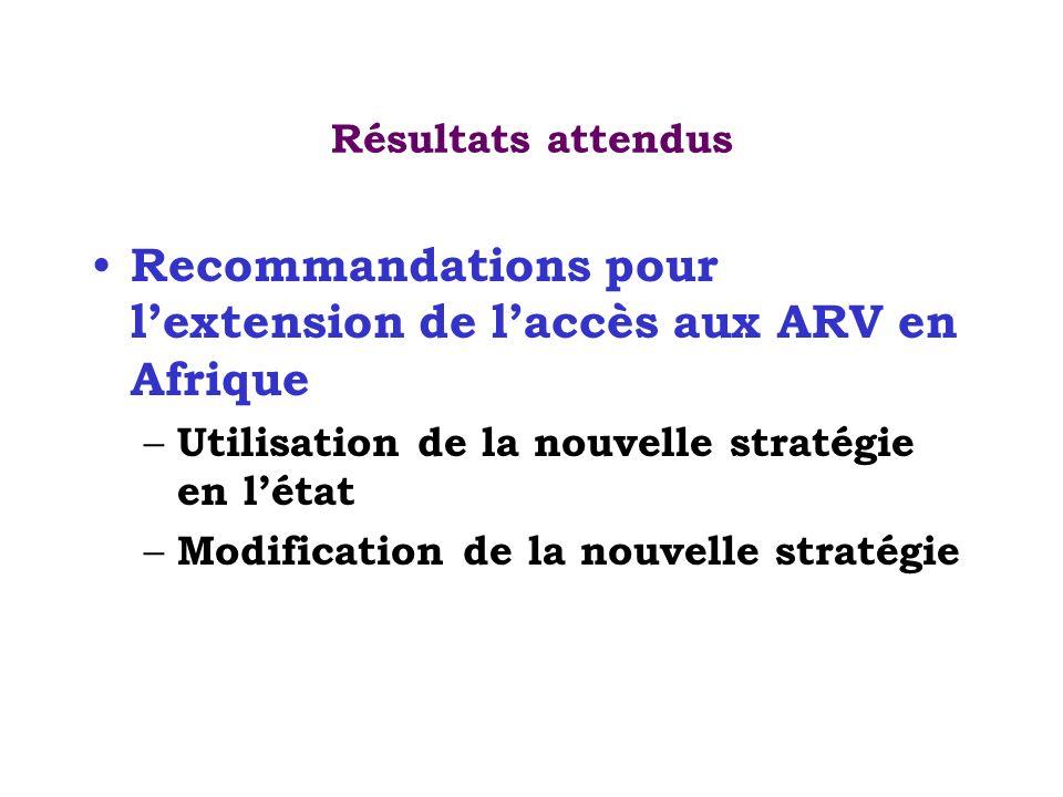 Recommandations pour l'extension de l'accès aux ARV en Afrique