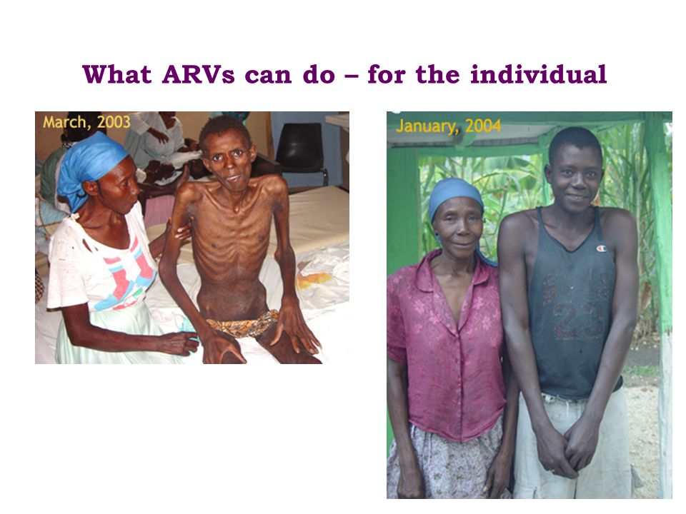 What ARVs can do – for the individual