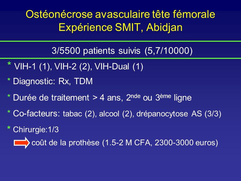 Ostéonécrose avasculaire tête fémorale Expérience SMIT, Abidjan