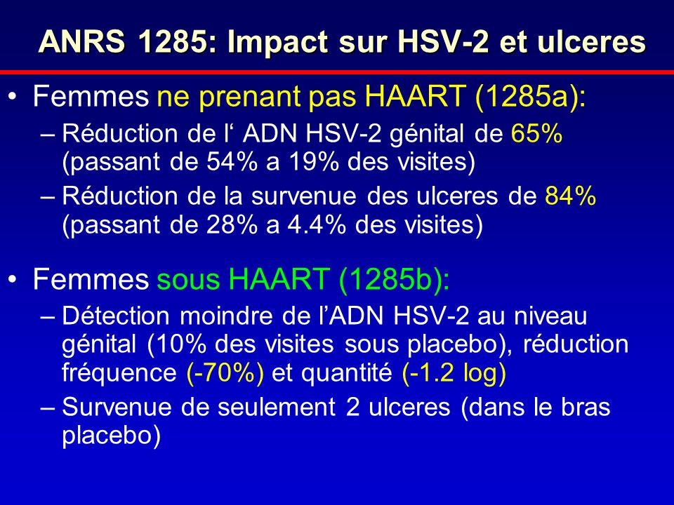 ANRS 1285: Impact sur HSV-2 et ulceres