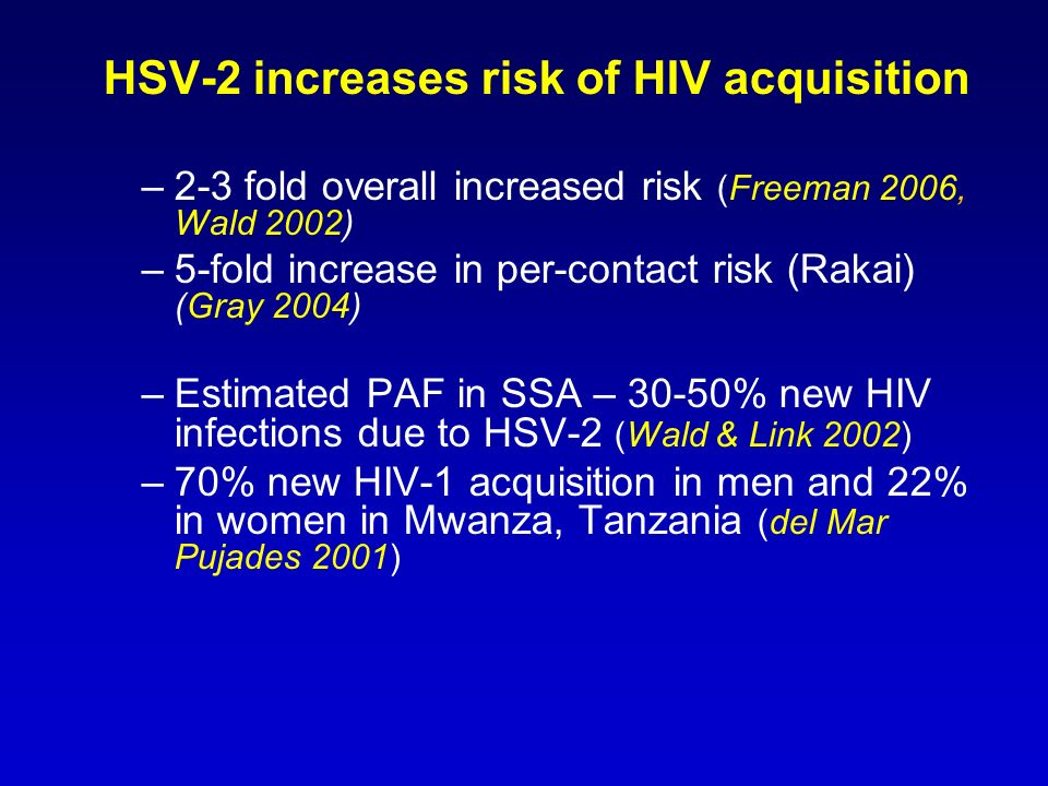 HSV-2 increases risk of HIV acquisition