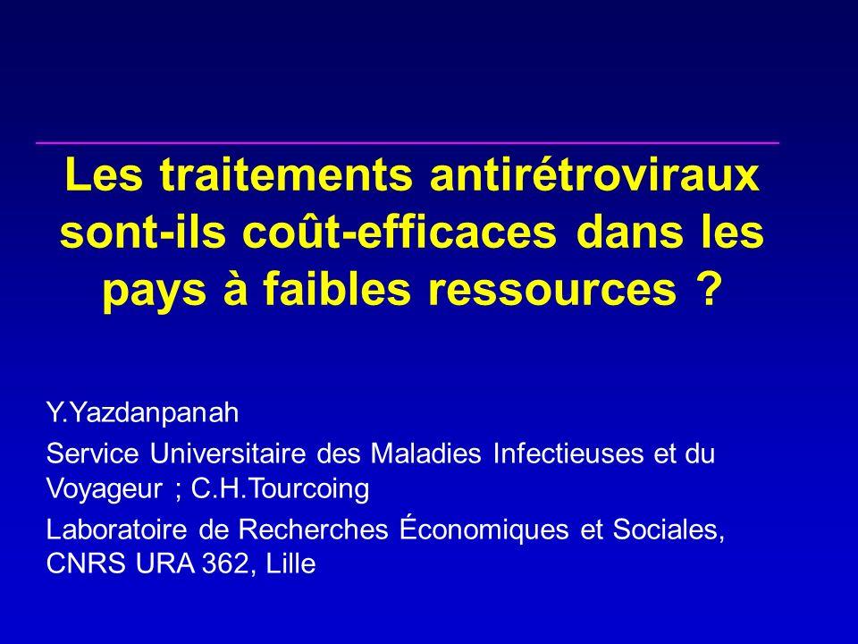 Les traitements antirétroviraux sont-ils coût-efficaces dans les pays à faibles ressources