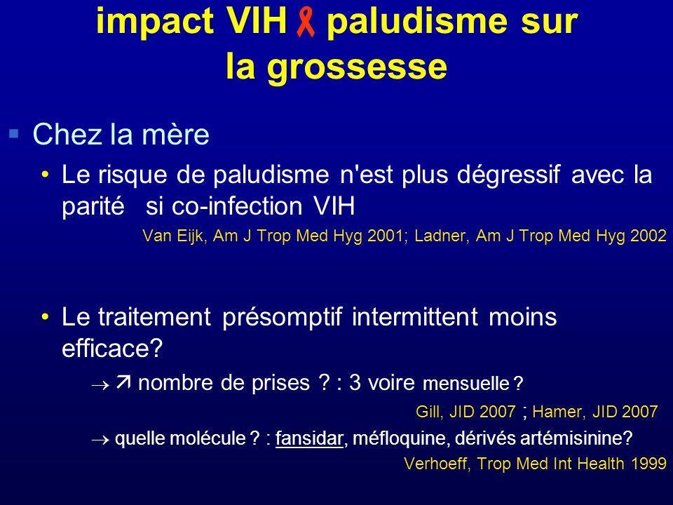impact VIHpaludisme sur la grossesse