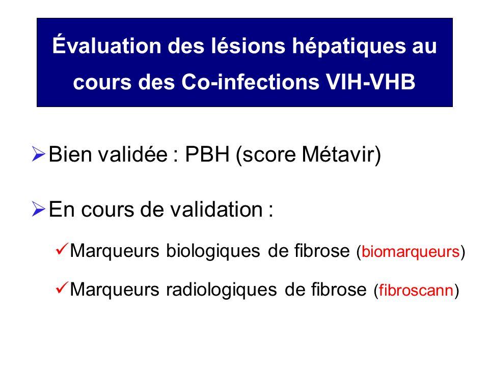 Évaluation des lésions hépatiques au cours des Co-infections VIH-VHB