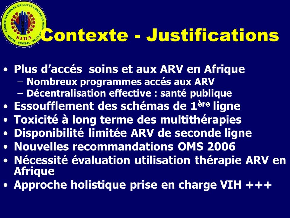 Contexte - Justifications