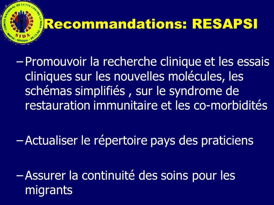 Recommandations: RESAPSI