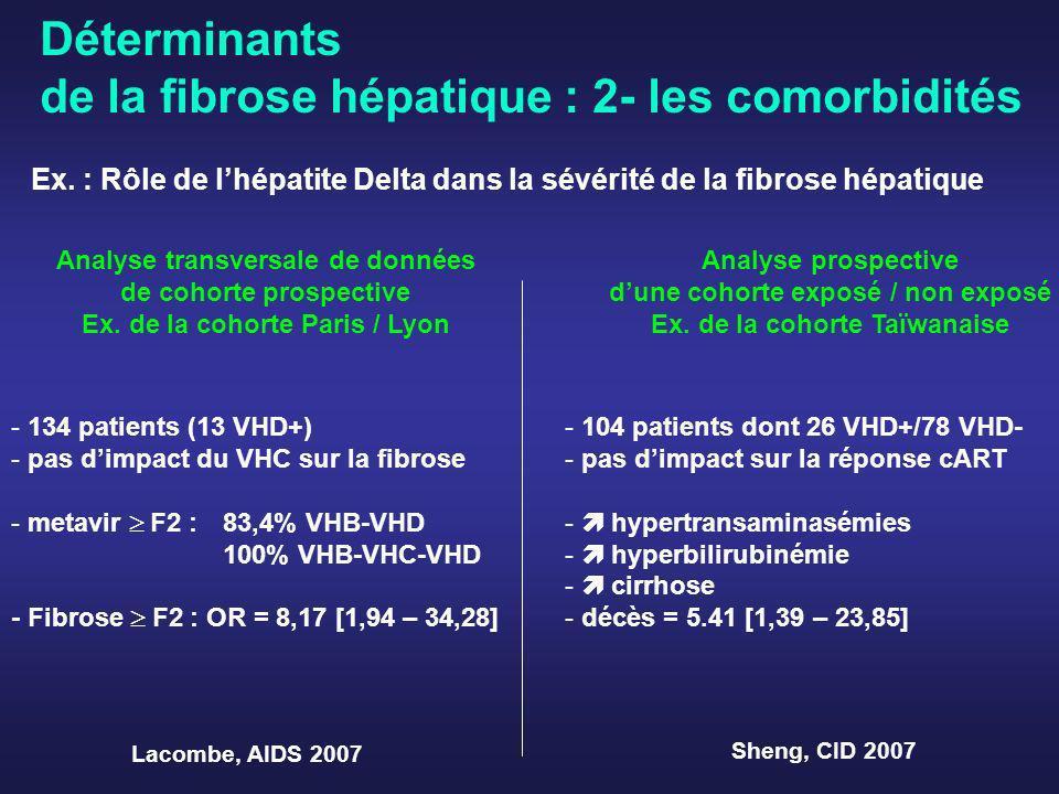 Déterminants de la fibrose hépatique : 2- les comorbidités