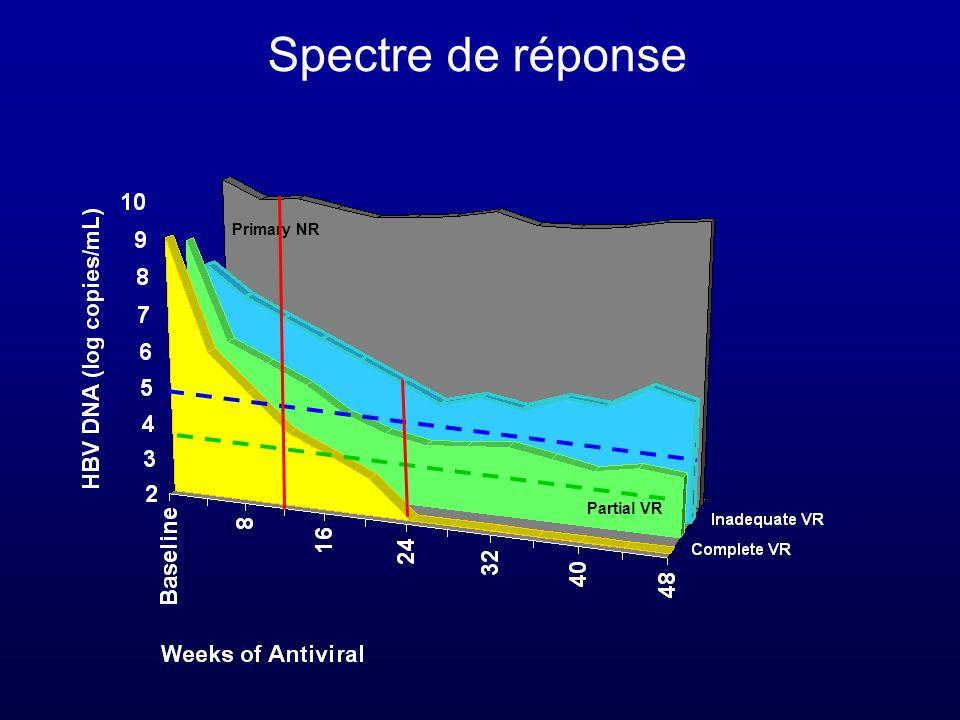 Spectre de réponse Primary NR Partial VR