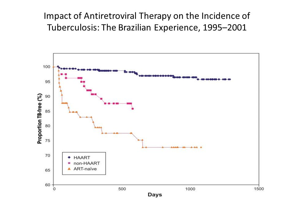 Impact of Antiretroviral Therapy on the Incidence of Tuberculosis: The Brazilian Experience, 1995–2001