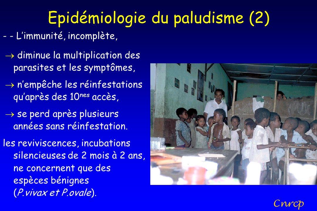 Epidémiologie du paludisme (2)